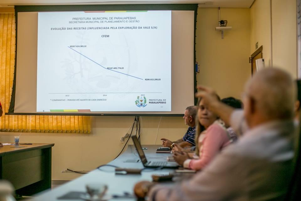 IPrefeito Valmir Mariano detalha execução orçamentária a vereadores